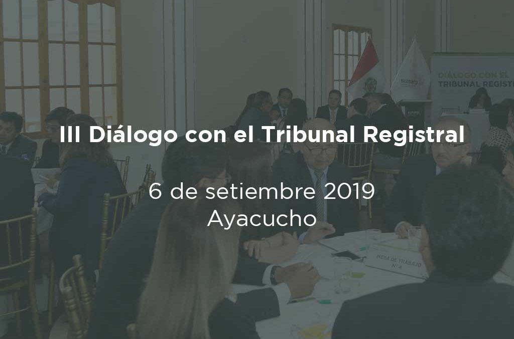 III Dialogo con el Tribunal Registral