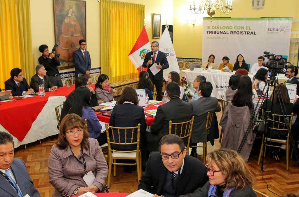 III Diálogo con el Tribunal Registral – Ayacucho – 6 de setiembre 2019