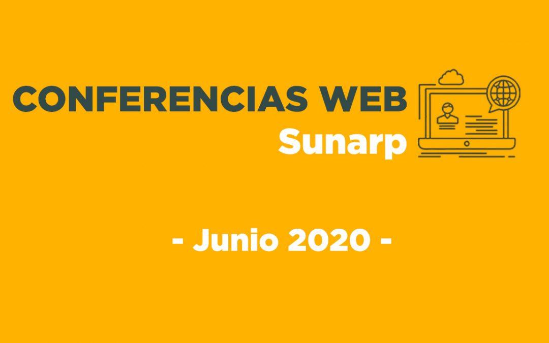 Conferencias Web Sunarp – Junio 2020