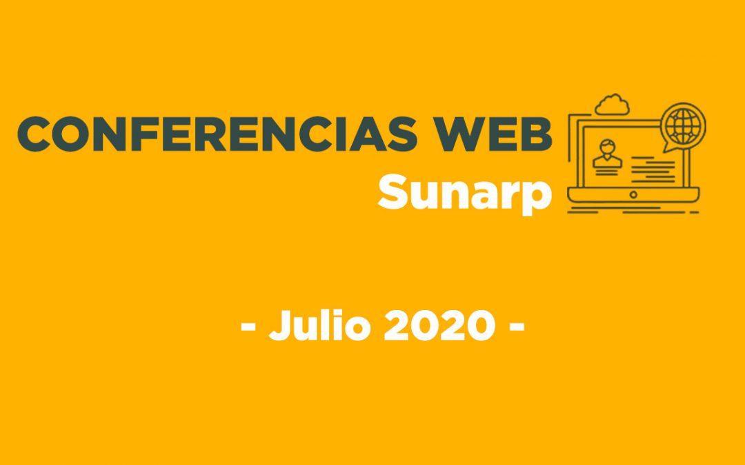 Conferencias Web Sunarp – Julio 2020