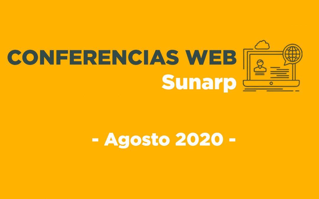 Conferencias Web Sunarp – Agosto 2020