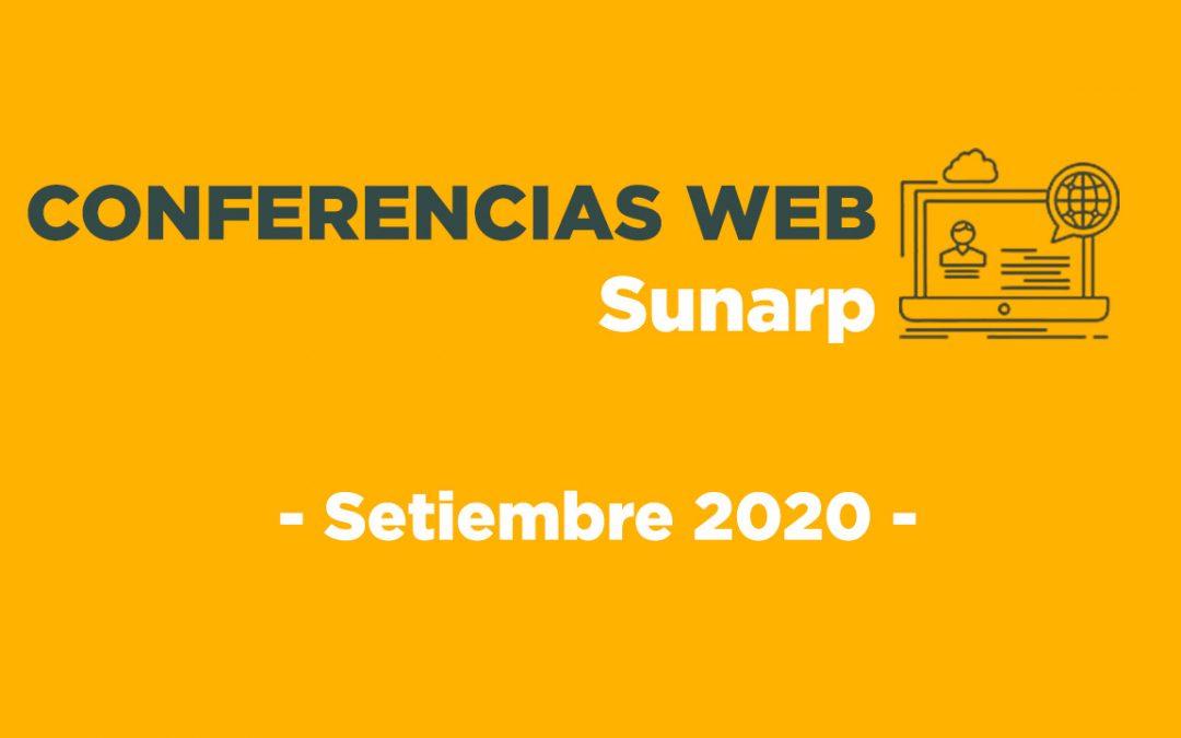 Conferencias Web Sunarp – Setiembre 2020