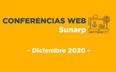 Conferencias Web Sunarp – Diciembre 2020