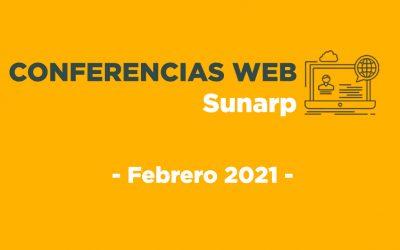 Conferencias Web Sunarp – Febrero 2021