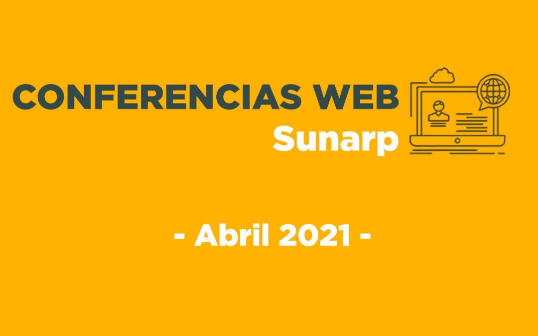 Conferencias Web Sunarp – Abril 2021