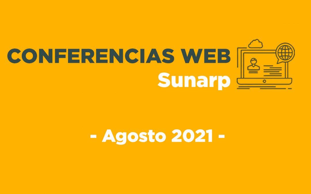Conferencias Web Sunarp – Agosto 2021