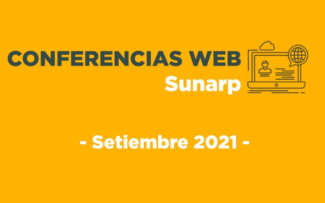 Conferencias Web Sunarp – Setiembre 2021